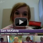 mHealth for youth Google Hangout text messaging