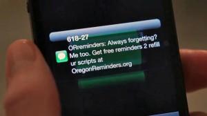 Oregon Reminders medicaiton text messages