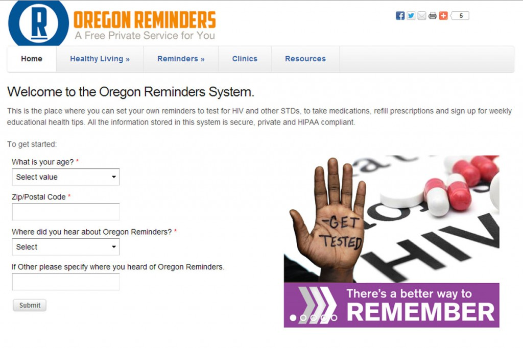 Oregon Reminders medication reminder mHealth