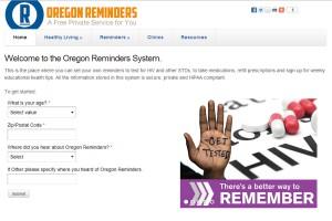 Oregon Reminders medication reminder mHealth