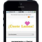 Unete Latina domestic violence care mobile website